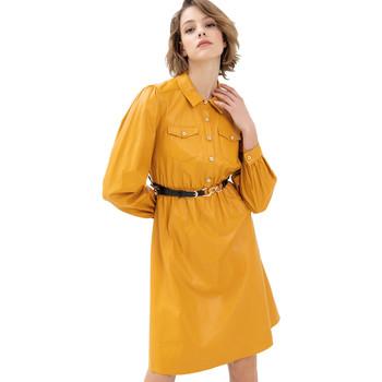 textil Dam Korta klänningar Fracomina FR21WD2007O42001 Gul