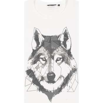 textil Herr T-shirts Antony Morato MMKS02072 FA100144 Vit