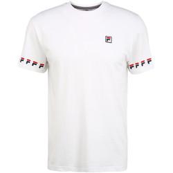 textil Herr T-shirts Fila 689176 Vit