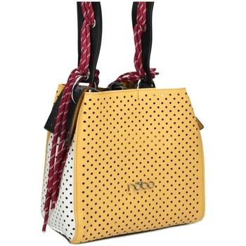 Väskor Dam Handväskor med kort rem Nobo 49630 Vit, Gula