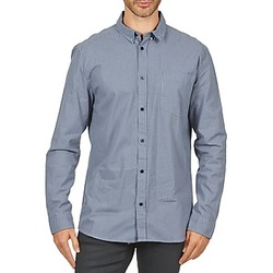 textil Herr Långärmade skjortor Wesc YANIK Blå