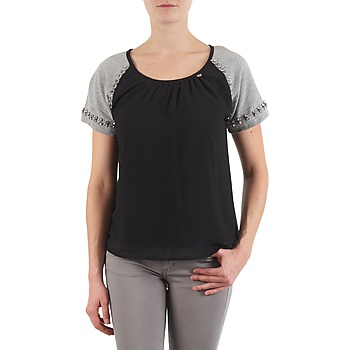 textil Dam T-shirts Lollipops PADELINE TOP Svart / Grå