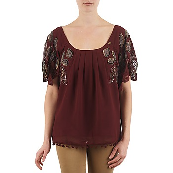 textil Dam T-shirts Lollipops POCAHONTAS TOP Bordeaux