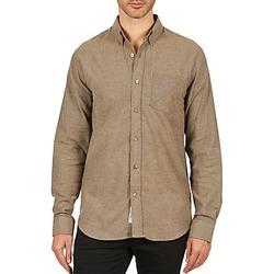 textil Herr Långärmade skjortor Kulte CHEMISE CLAY 101799 BEIGE Beige