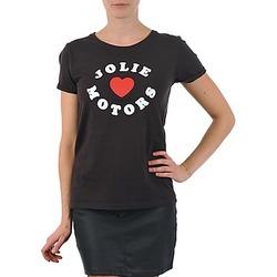 textil Dam T-shirts Kulte LOUISA JOLIEMOTOR 101954 NOIR Svart