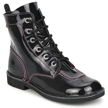 Skor Flickor Boots Kickers KICK MOOD Svart / Lack