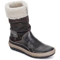 Skor Dam Boots Snipe POLIGHT SUEDE DOUBLE FACE Choklad / Brun