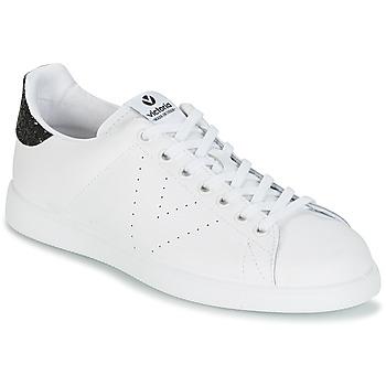 Skor Dam Sneakers Victoria DEPORTIVO BASKET PIEL Vit / Svart