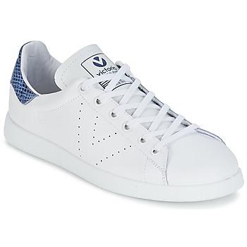 Skor Sneakers Victoria DEPORTIVO BASKET PIEL Vit / Blå