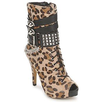 Skor Dam Stövletter Abbey Dawn PLATFORM BOOTEE Leopard