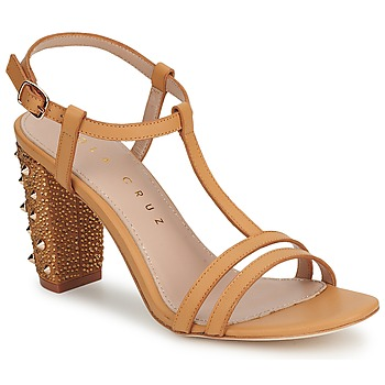 Skor Dam Pumps Lola Cruz STUDDED Beige / Tan (mellanbrun)