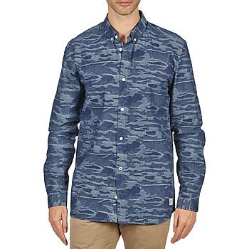 textil Herr Långärmade skjortor Suit ROD Blå