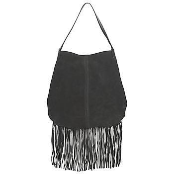 Väskor Dam Handväskor med kort rem Pieces TABATHA SUEDE Svart