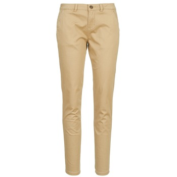 textil Dam Chinos / Carrot jeans Casual Attitude DOMINO Beige
