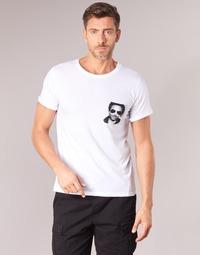 textil Herr T-shirts Eleven Paris LENNYPOCK MEN Vit