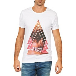 textil Herr T-shirts Eleven Paris MIAMI M MEN Vit