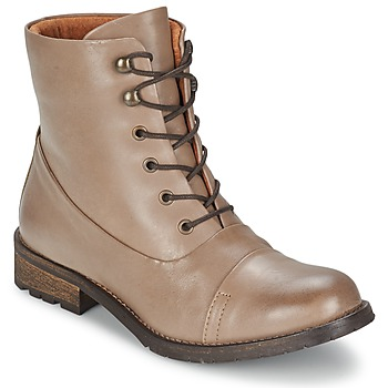 Skor Dam Boots Pieces SENIDA LEATHER BOOT Mullvadsfärgad