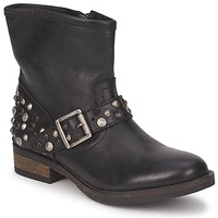 Skor Dam Boots Pieces ISADORA LEATHER BOOT Svart
