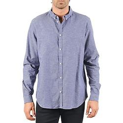 textil Herr Långärmade skjortor Cheap Monday DAMON BD SHIRT Blå