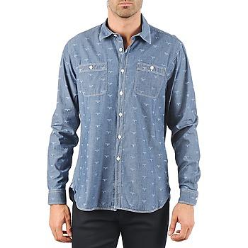 textil Herr Långärmade skjortor Barbour LAWSON Blå