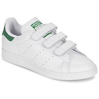 Skor Sneakers adidas Originals STAN SMITH CF Vit / Grön
