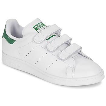 Skor Sneakers adidas Originals STAN SMITH CF Vit / Grön