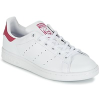 Skor Flickor Sneakers adidas Originals STAN SMITH J Vit / Rosa