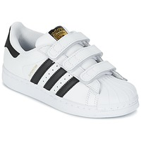 Skor Barn Sneakers adidas Originals SUPERSTAR FOUNDATIO Vit / Svart