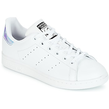 Skor Flickor Sneakers adidas Originals STAN SMITH J Vit