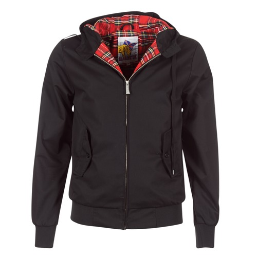 textil Herr Vindjackor Harrington HARRINGTON HOODED Svart