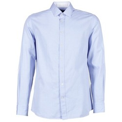 textil Herr Långärmade skjortor Hackett SQUARE TEXT MUTLI Blå