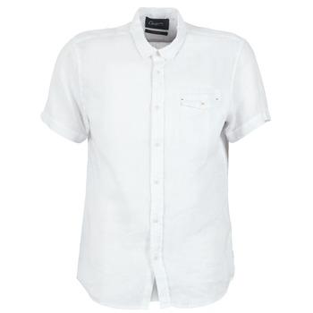 textil Herr Kortärmade skjortor Chevignon C-LINEN Vit