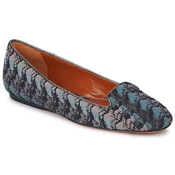 Skor Dam Loafers Missoni WM004 Blå