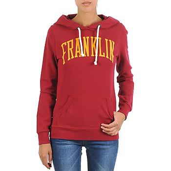 textil Dam Sweatshirts Franklin & Marshall TOWNSEND Röd