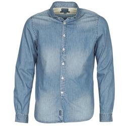 textil Herr Långärmade skjortor Façonnable PLUSAMO Blå