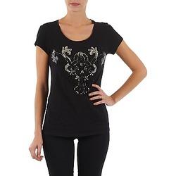 textil Dam T-shirts S.Oliver T-SHIRT MANCHES COUR Svart