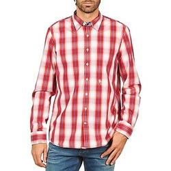 textil Herr Långärmade skjortor Gaastra ECHO SOUNDING Röd