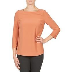 textil Dam Långärmade T-shirts Color Block 3214723 Korall