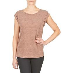 textil Dam T-shirts Color Block 3203417 Rosa / Melerad / Grå
