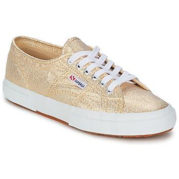Skor Dam Sneakers Superga 2751 LAMEW Guldfärgad