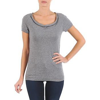 textil Dam T-shirts La City PULL COL BEB Grå