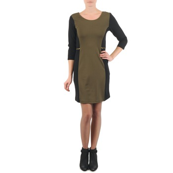 textil Dam Korta klänningar La City ROKAMIL Kaki / Svart