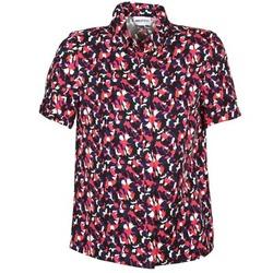 textil Dam Kortärmade skjortor American Retro NEOSHIRT Svart / Rosa / Orange