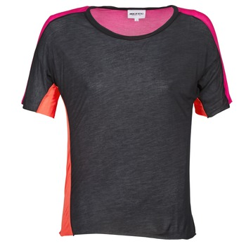 textil Dam T-shirts American Retro CAROLE Svart / Rosa