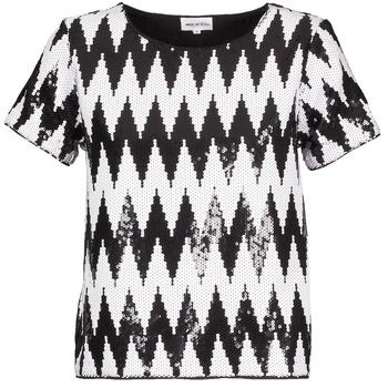textil Dam T-shirts American Retro GEGE Svart / Vit