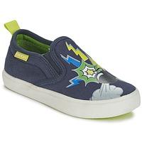 Skor Pojk Slip-on-skor Geox KIWI B. D Blå / Grön