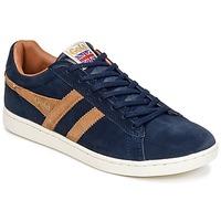 Skor Herr Sneakers Gola EQUIPE SUEDE Marin / Brun