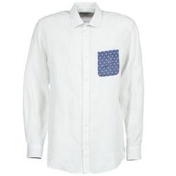 textil Herr Långärmade skjortor Serge Blanco CHACA Vit