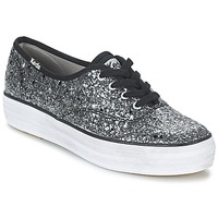 Skor Dam Sneakers Keds TRIPLE GLITTER Silverfärgad