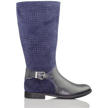 Skor Flickor Boots Biomecanics GARVALIN CHICA CON SERRAJE GRABADO AZUL